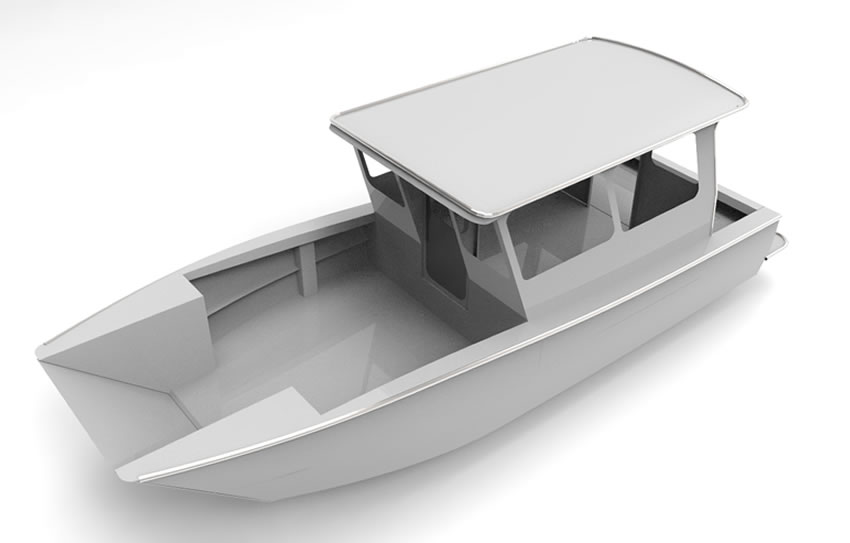 Discovery Passage 28ft Ob Landing Craft Cope Aluminum Boat Designs