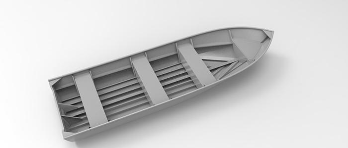 Amazon River 19ft 8in Open Skiff, Cope Aluminum Boat Designs